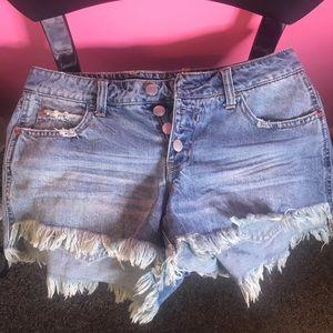 Distressed denim Jean shorts